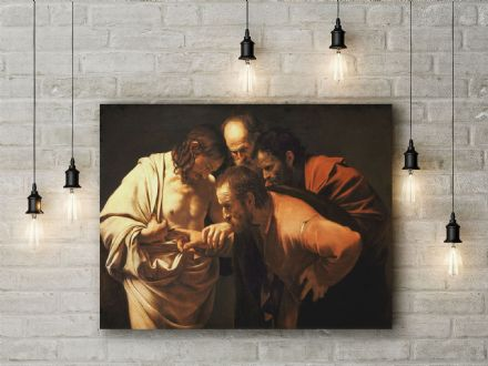 Caravaggio: The Incredulity of Saint Thomas. Fine Art Canvas.
